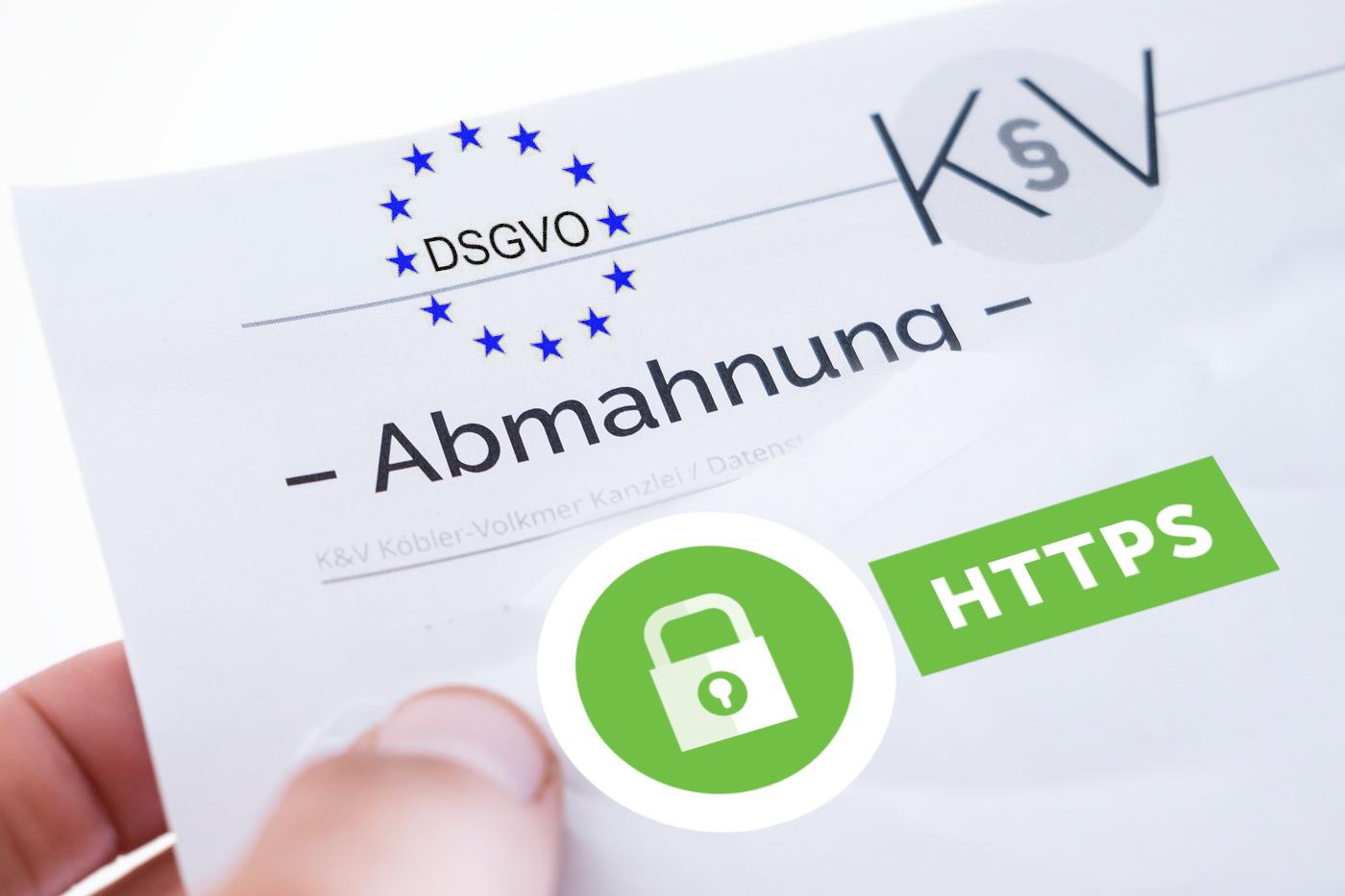 DSGVO HTTPS Abmahnungen