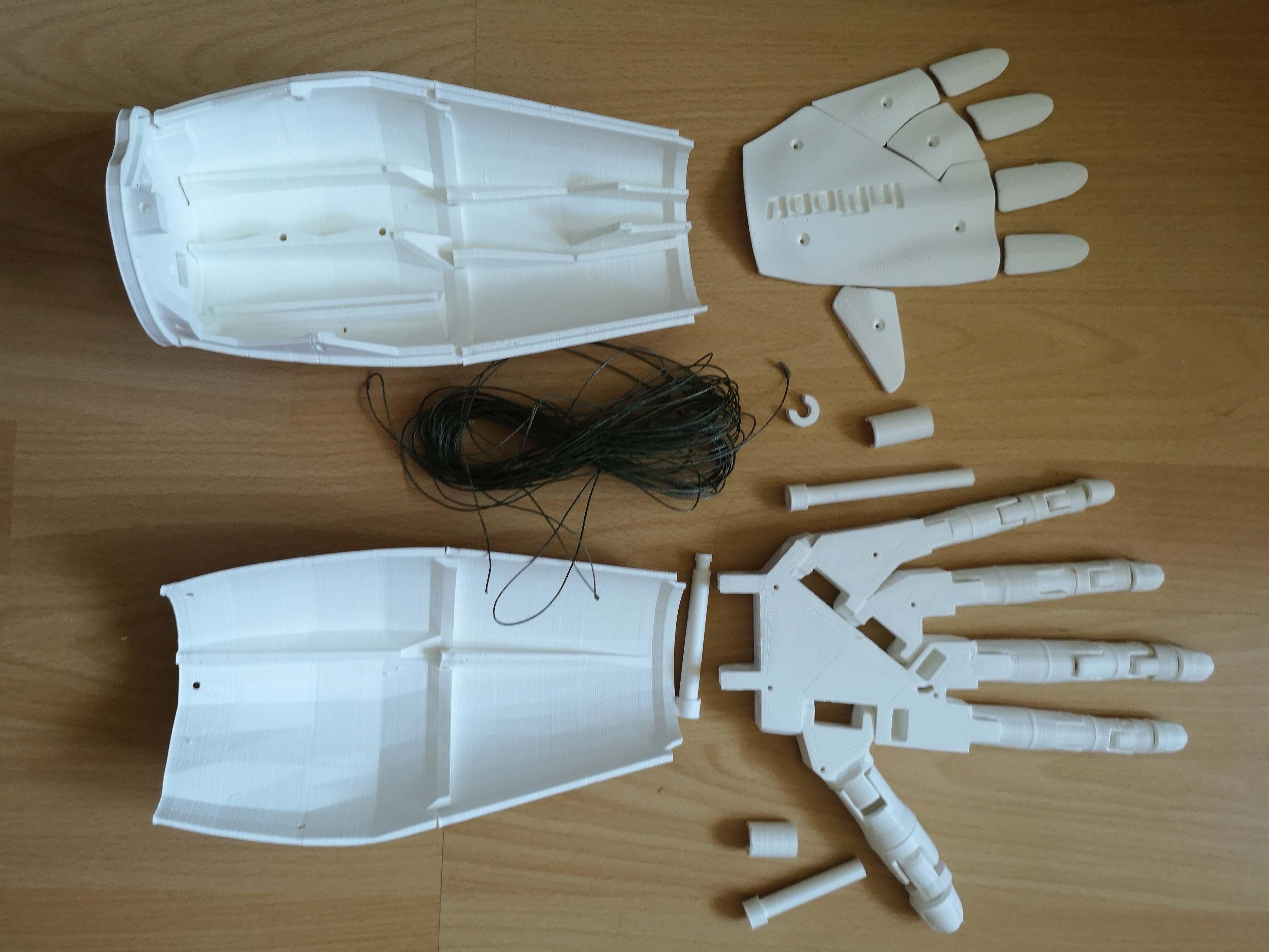 Roboterarm: Druck abgeschlossen