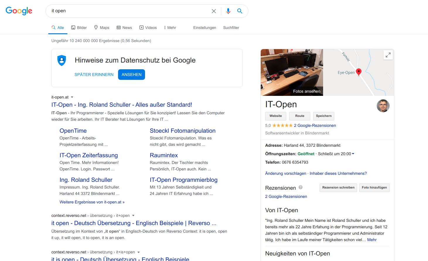 Mehr Sichtbarkeit durch Google MyBusiness (gratis)